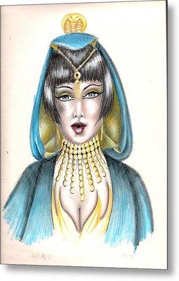 Egyptian Princess Metal Print by Scarlett Royal