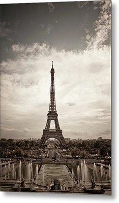 Eiffel Tower Metal Print by Ei Katsumata