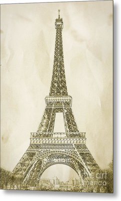 Eiffel Tower Illustration Metal Print by Paul Topp
