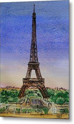 Eiffel Tower Paris France Metal Print by Irina Sztukowski