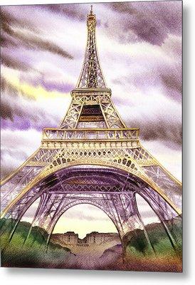 Eiffel Tower Summer In Paris Metal Print by Irina Sztukowski