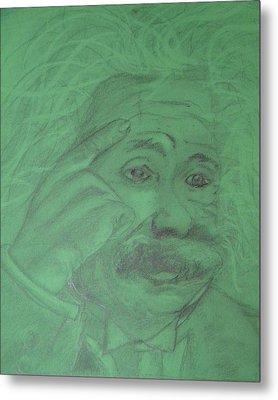Einstein Metal Print by Manuela Constantin