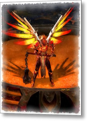 El Diablo  - Aquarell Style -  - Da Metal Print by Leonardo Digenio