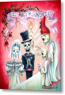 El Matrimonio Metal Print by Heather Calderon