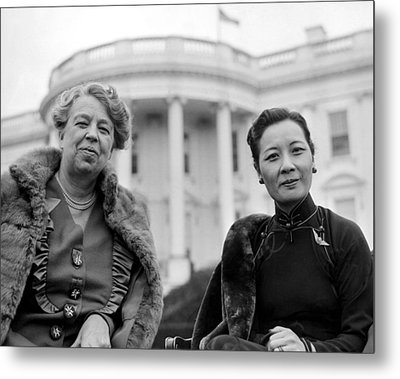 Eleanor Roosevelt And Madame Chiang Metal Print by Everett