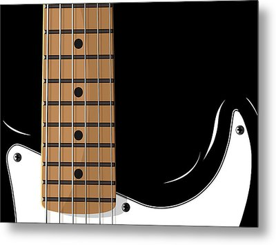 Electric Guitar Metal Print by Michael Tompsett