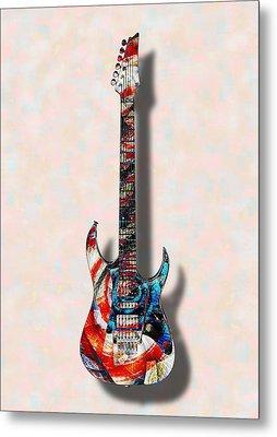 Electric Guitar - Psychobilly - Musical Instruments Metal Print by Anastasiya Malakhova
