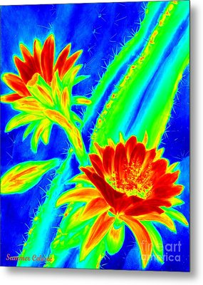 Electric Night Bloomer  Metal Print by Summer Celeste