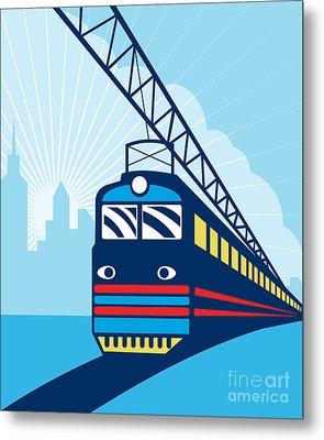 Electric Passenger Train Metal Print by Aloysius Patrimonio