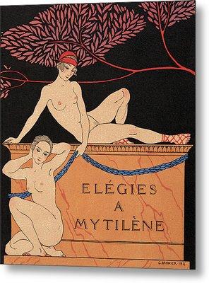 Elegies A Mytilene Metal Print by Georges Barbier
