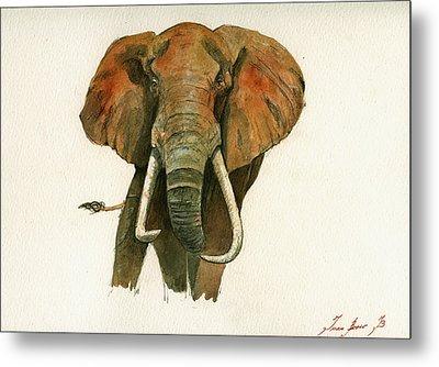 Elephant Painting           Metal Print by Juan  Bosco