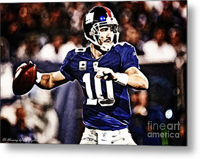 Eli Manning Metal Print by The DigArtisT