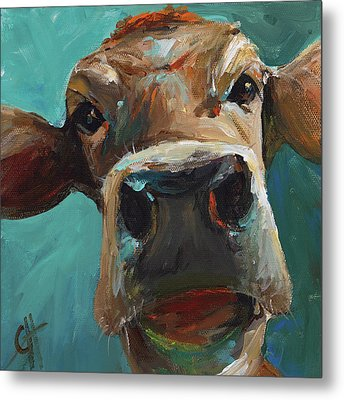 Elise The Cow Metal Print by Cari Humphry