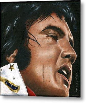 Elvis 24 1974 Metal Print by Rob De Vries
