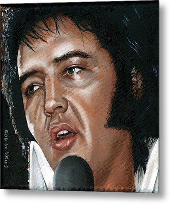 Elvis 24 1975 Metal Print by Rob De Vries