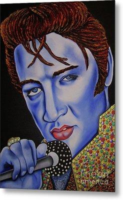 Elvis Metal Print by Nannette Harris