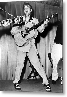 Elvis Presley, C. Mid-1950s Metal Print by Everett