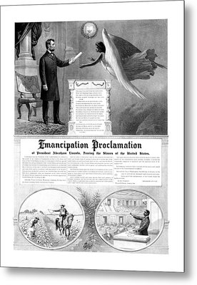 Emancipation Proclamation Metal Print by War Is Hell Store