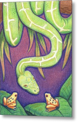 Emerald Tree Boa Metal Print by Amy S Turner