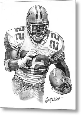 Emmitt Smith Metal Print by Harry West
