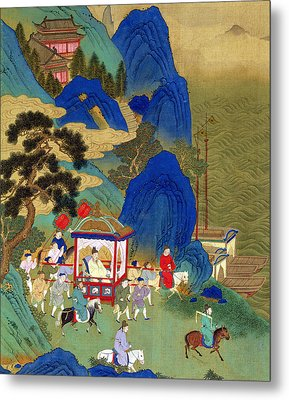 Emperor Chin Wang Ti Metal Print by Chinese School