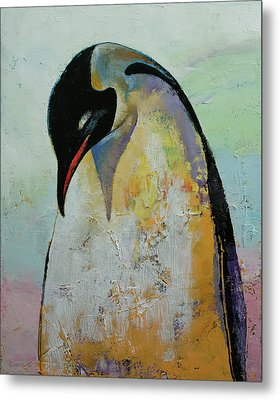 Emperor Penguin Metal Print by Michael Creese
