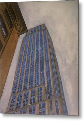 Empire State Building 2 Metal Print by Anita Burgermeister
