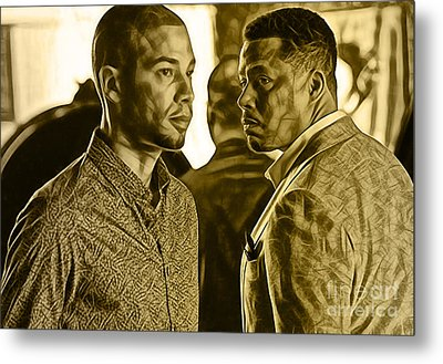 Empire's Terrence Howard And Jussie Smollett Metal Print by Marvin Blaine