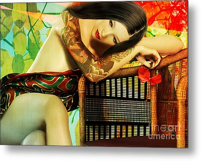 Empty Chair  Metal Print by Shanina Conway