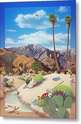 Enchanted Desert Metal Print by Snake Jagger