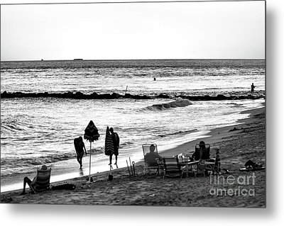 End Of The Day Metal Print by John Rizzuto