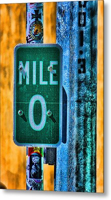 End Of The Line Metal Print by Joetta West