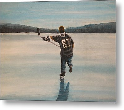 Endless Ice - Sid The Kid Metal Print by Ron  Genest