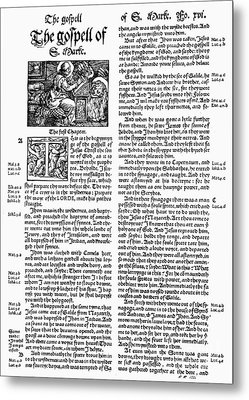 English Bible, 1535 Metal Print by Granger