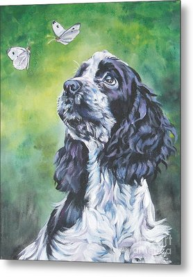 English Cocker Spaniel  Metal Print by Lee Ann Shepard