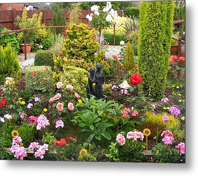 English Country Garden Metal Print by Jacqueline Essex