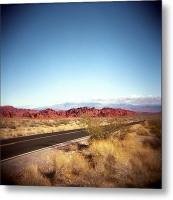Entering The Valley Of Fire Metal Print by Lori Andrews