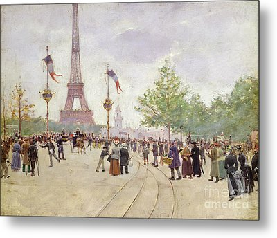 Entrance To The Exposition Universelle Metal Print by Jean Beraud