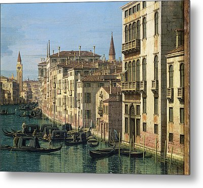 Entrance To The Grand Canal Looking West Metal Print by Canaletto