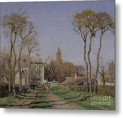 Entrance To The Village Of Voisins Metal Print by Camille Pissarro
