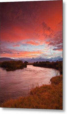 Epic Owens River Sunset Metal Print by Nolan Nitschke