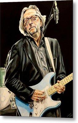 Eric Clapton Metal Print by Chris Benice