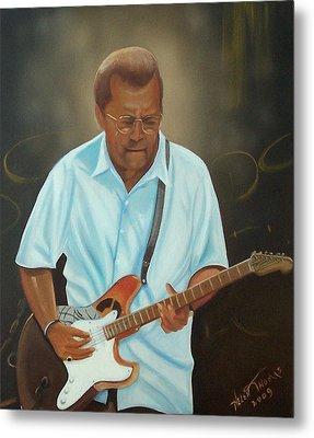 Eric Clapton Metal Print by Helen Thomas