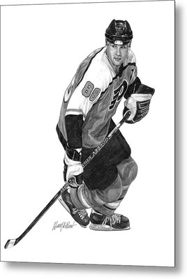 Eric Lindros Metal Print by Harry West