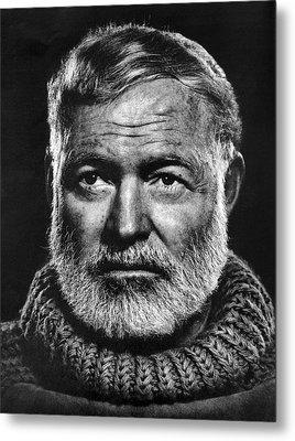Ernest Hemingway Metal Print by Daniel Hagerman