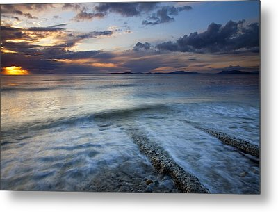 Eroded By The Tides Metal Print by Mike  Dawson
