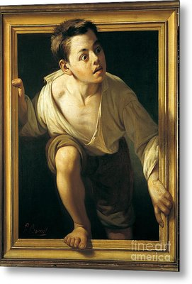 Escaping Criticism Metal Print by Pere Borrell
