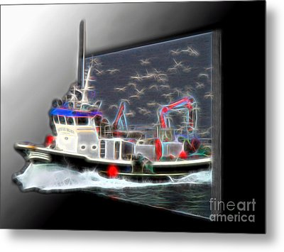 Escaping The Seagulls Metal Print by Sue Melvin
