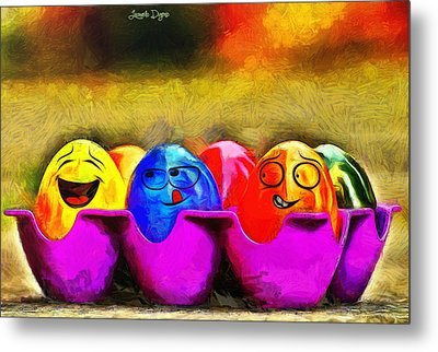 Ester Eggs - Da Metal Print by Leonardo Digenio