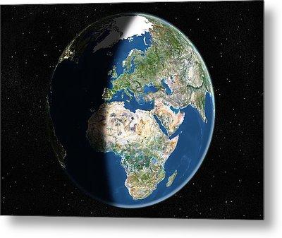 Europe, Satellite Image Metal Print by Planetobserver